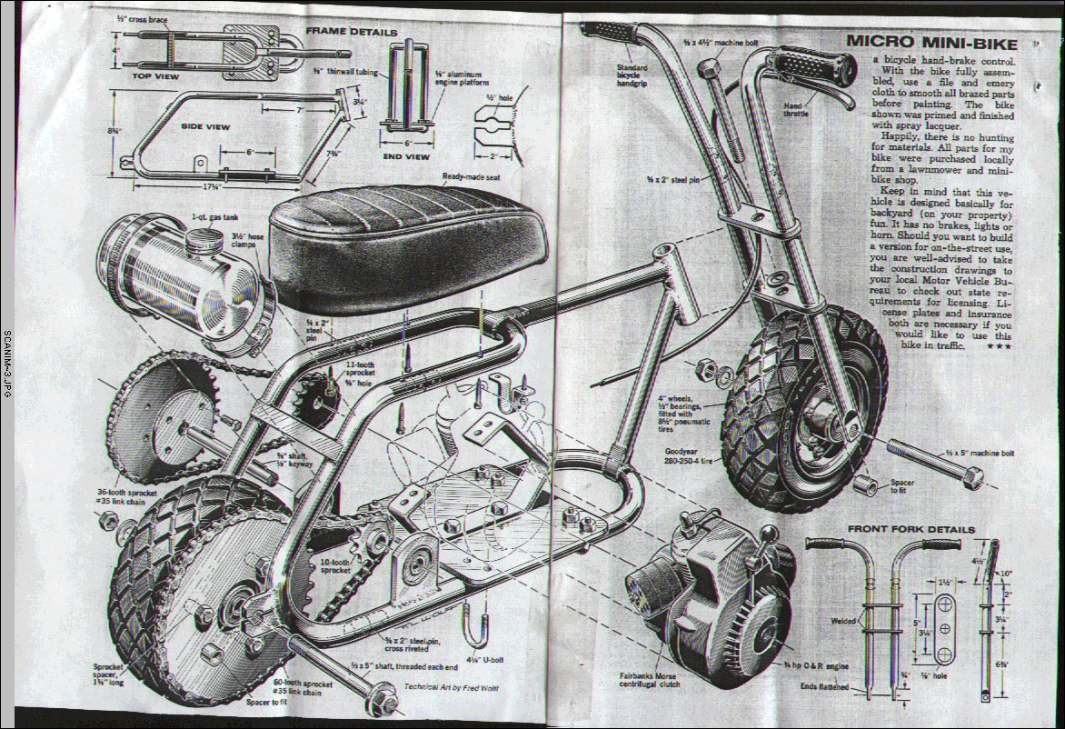 Scooter And Minibike Plans Pocket Bike Wiring Diagram Mini Bike Diagram